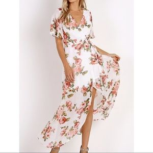 Show Me Your MuMu Marianne Wrap Dress: Rosie Posie